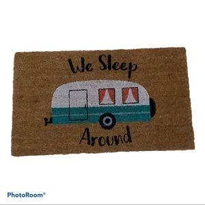 """NWT Koppers We Sleep Around Door Mat  17"""" x 29"""""""